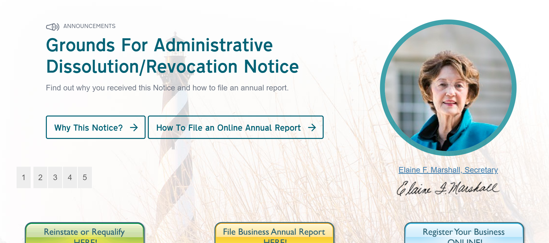 Tour of Secretary of State Website - NC Business Blog